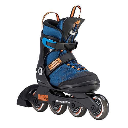 K2 Jungen Inline Skates RAIDER PRO - Schwarz-Blau-Orange - M (32-37 EU; 13-4 UK; 1-5 US) - 30D0221.1.1.M