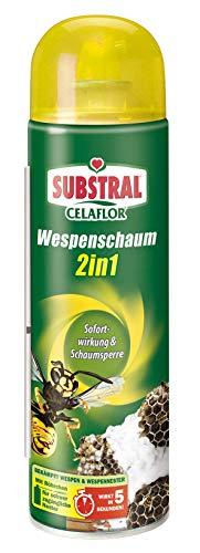 Celaflor Wespenschaum 2in1, gegen Wespennester, bis zu 3 Meter Sprühstrahl, Sofort- und Langzeitwirkung, 500ml
