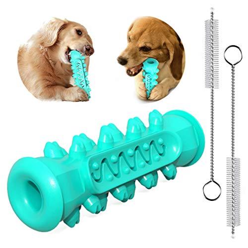 RuiChy Hundezahnbürste Kauspielzeug Dauerhaft Hund Gummi Zahnpflege Bissfest Bürstenstab Zahnreiniger Zahnreinigung Interaktives Kauknochen Spielzeug für Kleine Und Mittle Große Hunde