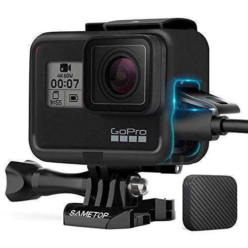 Sametop Frame Rahmen Schutzgehäuse Kompatibel mit GoPro Hero 7 Schwarz, 7 Silber, 7 Weiß, Hero 6 Schwarz, Hero 5 Schwarz, Hero (2018) Kameras