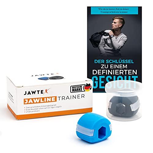 JAWTEX - Jawline Trainer, Jaw Trainer, Kiefer Trainer, Doppelkinnentferner, zwei Schwierigkeitsgrade, inklusive GRATIS E-Book