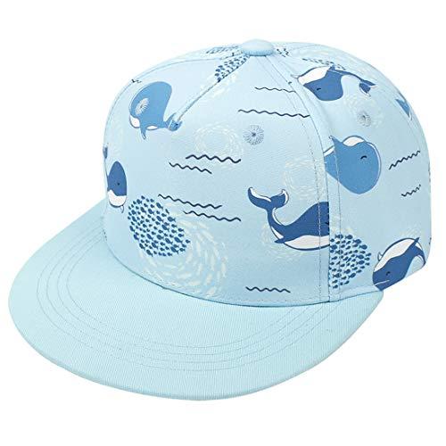Yixda Baby Kappe Sonnenhut Kinder Hiphop Baseballmütze Junge Mädchen Snapback Cap (2-4 Jahre, Wal)