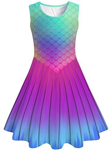 chicolife Prinzessin Kleider Lutscher Candy House gedruckt Mädchen süß ärmelloses Kleid