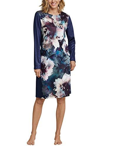 Schiesser Damen 1/1 Arm, 110cm Nachthemd, Blau (Dunkelblau 803), 40