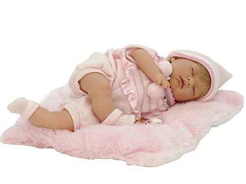 Nines Artesanals d'Onil – Reborn Puppe Mein kleines Baby mit geschlossenen Augen (700)