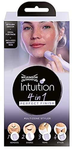 Wilkinson Intuition 4in1 Perfect Finish Elektrischer Damen Trimmer Für Körper, Bikinizone, Gesichtshaare und Augenbrauen