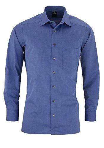 OLYMP Luxor Herren Hemd / Modern Fit / Langarm- Gr. 43, Nachtblau
