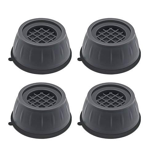 Dcola 4 Stück Waschmaschine Füße Pad Fußpolster, Anti Rutsch Gummi Fußpolster Schwingungsdämpfer Vibrationsdämpfer für Waschmaschinen und Trockner