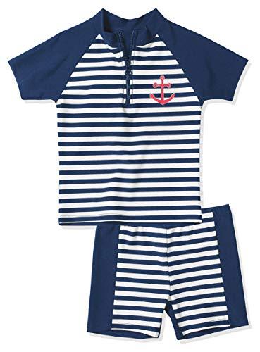 Playshoes Baby - Jungen Schwimmbekleidung, gestreift 460112 2 tlg. Bade-Set Maritim, Gr. 98/104, Mehrfarbig (900 original)