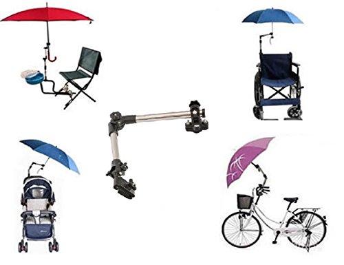 LL-Golf ® Schirmhalter für Fahrrad/Rollstuhl/Kinderwagen/Angeln/Golf Trolley für RUNDE Elemente bis 2,5 cm Durchmesser