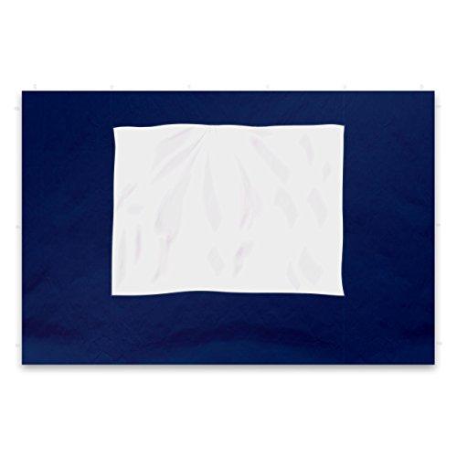 Nexos 2 Stück Seitenteile Seitenwände Ersatzwände mit Fenster für Profi Falt-Pavillon Festzelt – hochwertig – 295 x 215 cm/PE 180 g/m² – blau