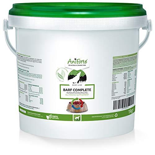 AniForte Barf Complete Pulver für Hunde 1kg - Natürliche Rundumversorgung, Reich an Mineralstoffen & Vitaminen, Ausgewogener Barf Zusatz