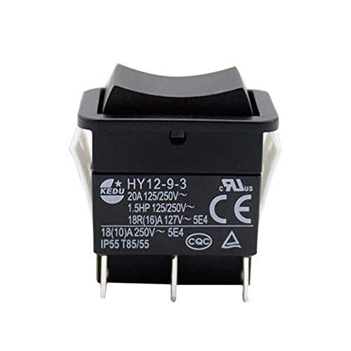 OSISTER7 Wippschalter, HY12-9-3 6-poliger industrieller elektrischer Wippschalter 125 V / 250 V Drucktaste