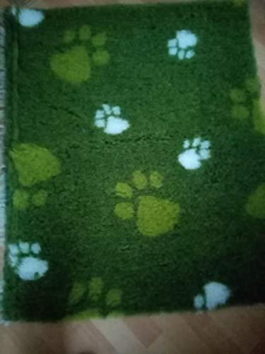 Original Drybed rutschfest in grün mit Pfote 100x75cm
