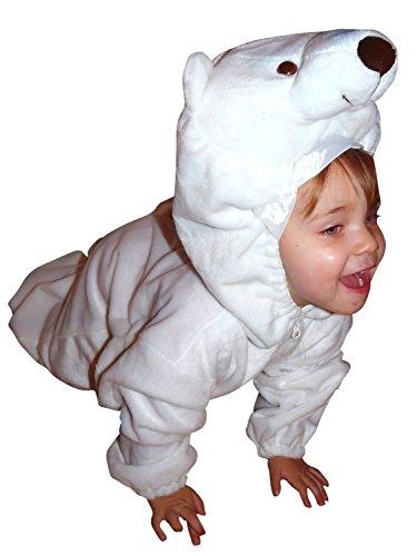 Eisbären-Kostüm, F24 Gr. 98-104, für Klein-Kinder, Babies, Eis-Bären Kostüme Fasching Karneval, Kleinkinder-Karnevalskostüme, Kinder-Faschingskostüme,Geburtstags-Geschenk Weihnachts-Geschenk