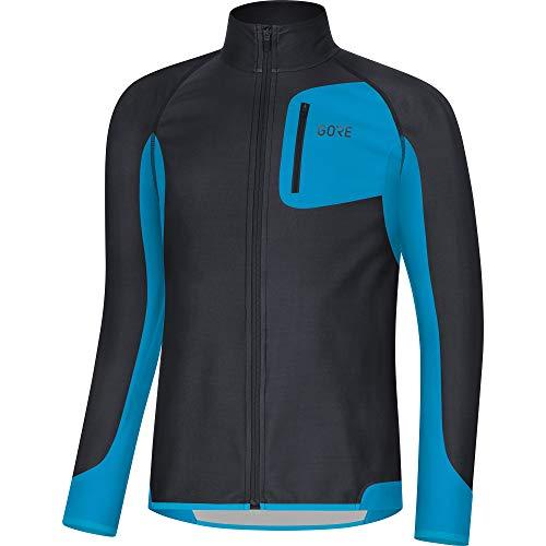 GORE Wear R3 Herren Trikot Partial GORE WINDSTOPPER, S, Schwarz/Blau