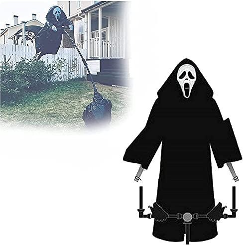 KASUP Geistergesichts-Vogelscheuche, Halloween-Geistergesichts-Dekoration, aus dem Film