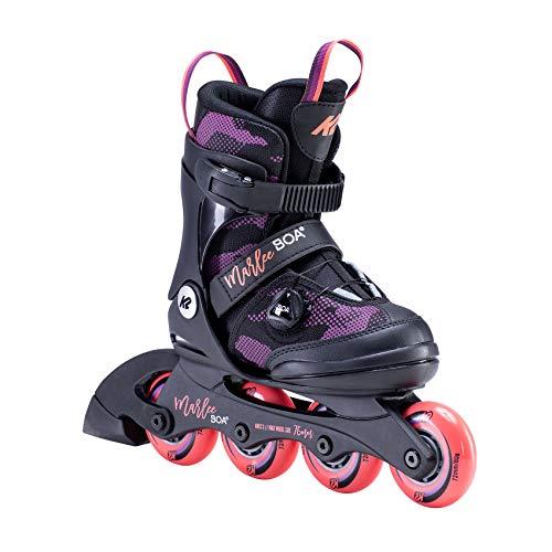 K2 Inline Skates MARLEE BOA Für Mädchen Mit K2 Softboot, Black - Purple, 30E0202