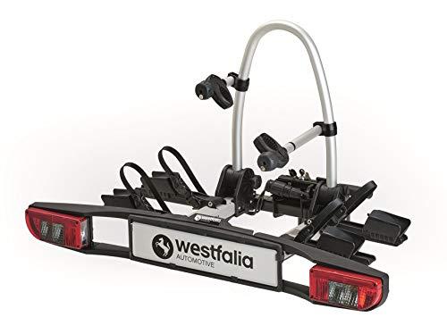 Westfalia BC 350036600001 60 Fahrradträger für die Anhängerkupplung - Zusammenklappbarer Kupplungsträger für 2 Fahrräder - E-Bike geeigneter Universal-Radträger mit 60 kg Zuladung