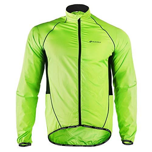 WAZA Fahrradjacke für Herren, langärmelig, für Sport, Mountainbike, Rennrad, Fahrradbekleidung Gr. XL, grün