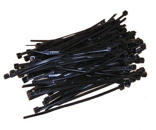 Kabelbinder 100mm Schwarz 100Stck.   Premiumqualität von PC24 Shop & Service