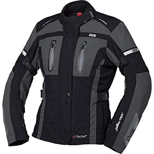 IXS Motorradjacke mit Protektoren Motorrad Jacke Pacora-ST Damen Textiljacke schwarz/grau M, Tourer, Ganzjährig, Polyamid
