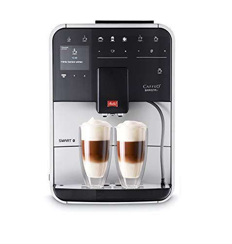 Melitta Caffeo Barista T Smart F831-101, Kaffeevollautomat, Smartphone-Steuerung mit Connect App, One Touch Funktion, Silber
