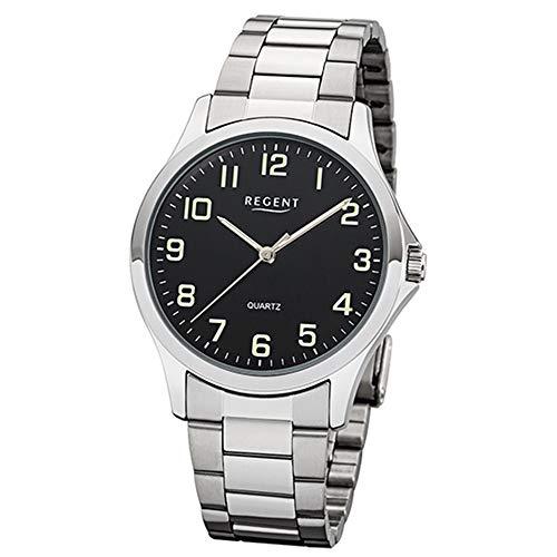 REGENT Herren-Armbanduhr analog Quarz Edelstahlband W-0015