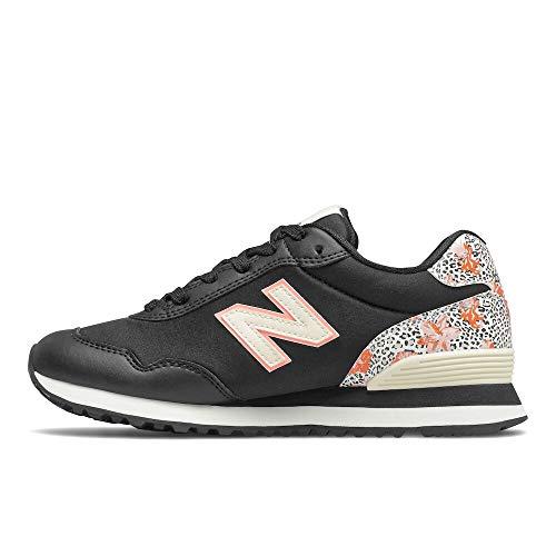 New Balance Women's 515 V3 Sneaker, Black/Paradise Pink, 6