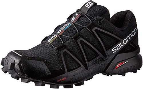 Salomon Damen Speedcross 4 Traillaufschuhe,Schwarz (Black Black Black Metallic) , 39 1/3 EU