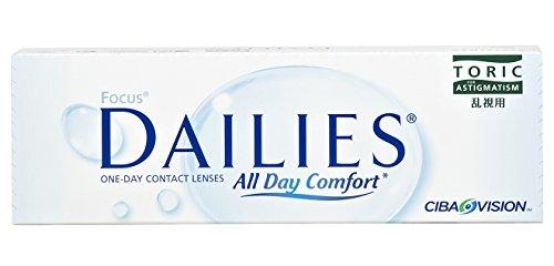 Alcon Focus Dailies Toric Torische Tageslinsen weich, 30 Stück / BC 8.6 mm / DIA 14.2 / CYL -1,50 / ACHSE 70 / +2,25 Dioptrien