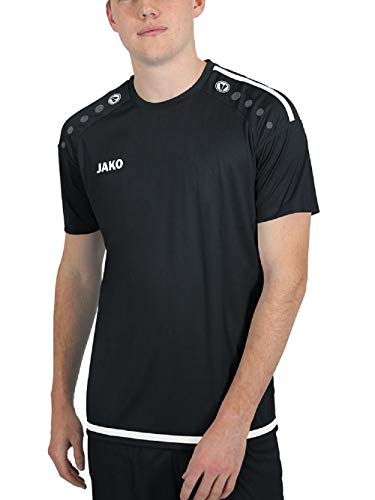 JAKO Herren Trikot Striker 2.0 KA, schwarz/weiß, 4XL, 4219