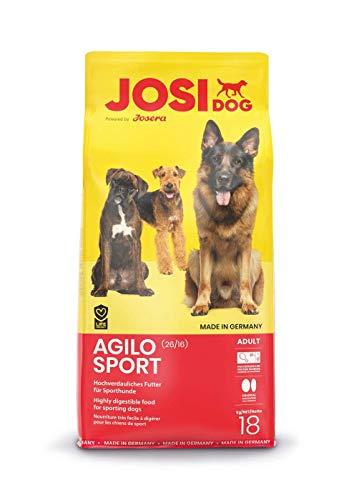 JosiDog Agilo Sport (18kg) | hochverdauliches Futter für aktive Hunde | Premium Trockenfutter für ausgewachsene Hunde | powered by JOSERA | 1er Pack