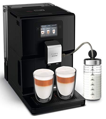 Krups EA8738 Intuition Preference Kaffeevollautomat inkl. Milchbehälter   Smartphoneähnlicher Farb-Touchscreen   Smart Slide Technology   intuitives Lichtsystem   11 Getränke   OTC-System