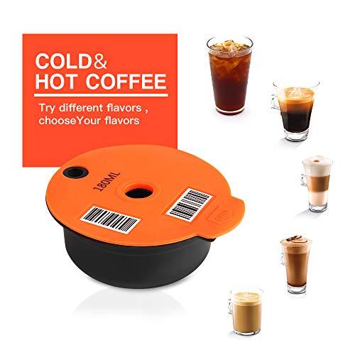 Nachfüllbare Kaffeekapseln, Edelstahl, kompatibel mit Tassimo-Maschinen (180 ml)