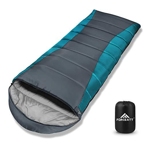 Forceatt Schlafsack für Camping in 3-4 Saison (-7 ℃ bis 18 ℃.) Leichtgewichtig, Wasserdicht und Warm für Erwachsene und Kinder 丨 Rucksackreisen, Camping, Wandern und Reisen