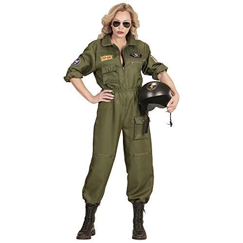 Widmann 65542 Kostüm Kampfjet Pilotin, Damen, Grün, M