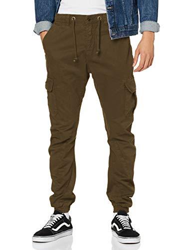 Urban Classics Herren Cargo Jogging Pants Hose, olive, L