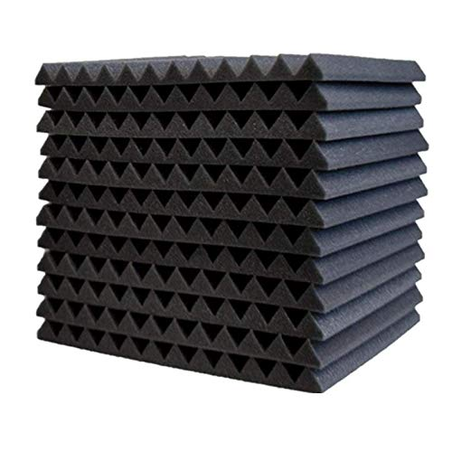 YUWEX Akkustik Platten Acoustic Foam Tile Lärm Ton-absorbierendes Schaumstoff Home Decoration 12 Stück für Tonstudio Büro Partykeller Heimstudio