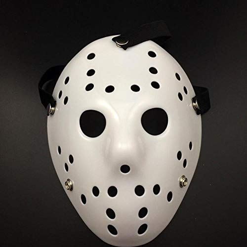 XWYWP Halloween Maske Jason Freddy Hockey Festival Party Masken Halloween Maskerade Maske Weiß