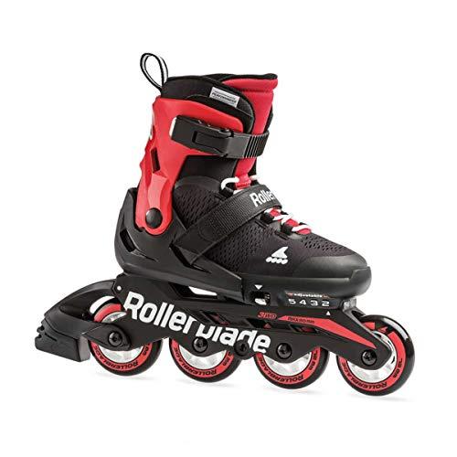 Rollerblade Jungen MICROBLADE Inline-Skate, Black/red, 175