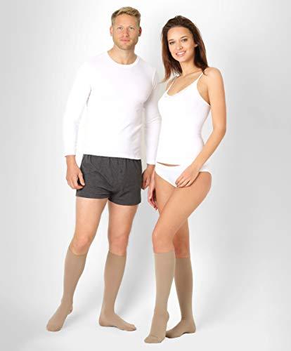 ®BeFit24 Medizinische Kompressionsstrümpfe und Thrombosestrümpfe für Herren und Damen (23-32 mmHg, 120 Den, Klasse 2) - Stützstrümpfe Flug und Schwangerschaft - Kompressionskniestrümpfe