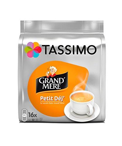 Tassimo Grand Mère Petit Déjeuner, Kaffee, Kaffeekapsel, Gemahlener Röstkaffee, 16 T-Discs