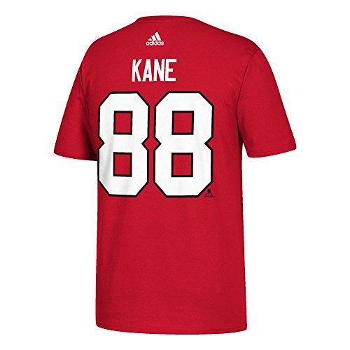 NHL T-Shirt Chicago Blackhawks Patrick Kane #88 rot Logo Eishockey (L)