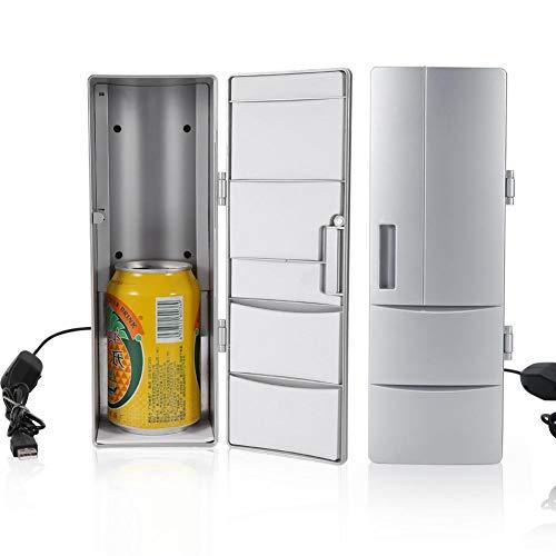Tragbarer Auto-Kühlschrank, Mini-Kühlschrank-Gefrierschrank, Tragbarer USB-Heißkühler-Gefrierschrank für Reise-Desktop-Autogebrauch