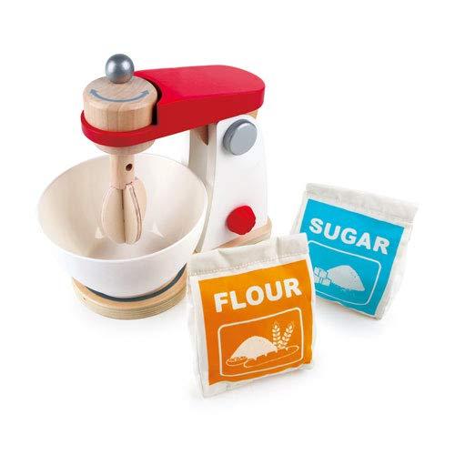 Hape Mein Mixer Kinder Mixer aus Holz Küchenspielzeug für Kaufladen Kinderküche Spielküche Rollenspiele