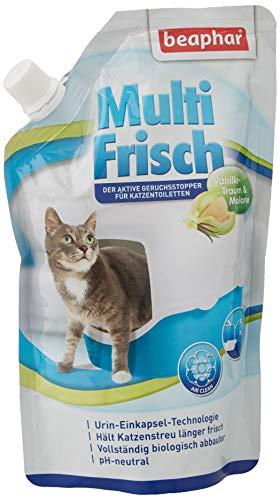 beaphar Multi Frisch Vanille & Melone | Katzenklo Deo | Frischer Duft für die Katzentoilette | Macht Katzenstreu länger haltbar | pH neutral | 400 g