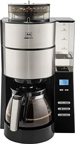 Melitta AromaFresh 1021-01 Filter-Kaffeemaschine mit integriertem Mahlwerk, ca. 10 Tassen, schwarz