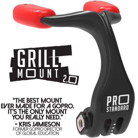 Pro Standard Grill Mount 2.0 - The Best Mouth Mount for GoPro Cameras (Black/Red)
