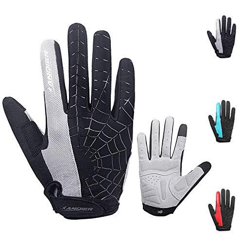 coskefy Fahrradhandschuhe Herren DamenFitness Handschuhe Gepolsterte Atmungsaktive rutschfest Mountainbike Radsporthandschuhe(Vollfinger)